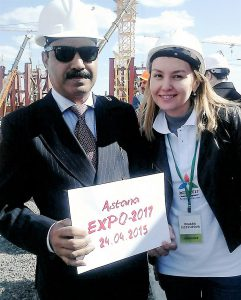 British delegate Dr Shahid Qureshi in the EXPO 2017 site in Astana – Kazakhstan 2015