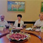 H.E. Mr. Wang Minister for information and external affairs city of Langfang, senior city official hosted lunch for Dr Shahid Qureshi at a Halal Restaurant in Langfang