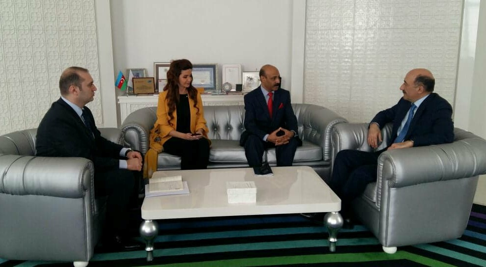 Dr Shahid Qureshi British election observer and Chief Editor of The London Post met with H.E. Dr Garayev Aboulfas Mursal Oglu, Minister for Culture and Tourism Republic of Azerbaijan in his office in the centre of Baku. (13th April 2018)
